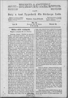 Biedaczek : czyli mały i tani tygodnik dla biednego ludu, 1849.07.13 R. 2 nr 2