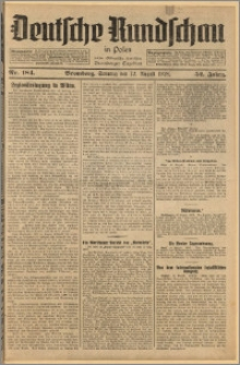 Deutsche Rundschau in Polen. J. 52, 1928, nr 184