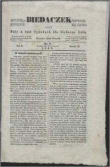 Biedaczek : czyli mały i tani tygodnik dla biednego ludu, 1849.08.17 R. 2 nr 7