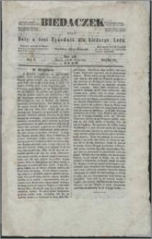 Biedaczek : czyli mały i tani tygodnik dla biednego ludu, 1849.09.21 R. 2 nr 12