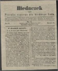Biedaczek : czyli mały i tani tygodnik dla biednego ludu, 1849.10.13 R. 2 nr 4