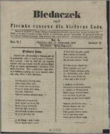 Biedaczek : czyli mały i tani tygodnik dla biednego ludu, 1849.10.17 R. 2 nr 5