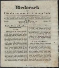 Biedaczek : czyli mały i tani tygodnik dla biednego ludu, 1849.10.20 R. 2 nr 6