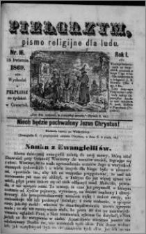 Pielgrzym, pismo religijne dla ludu 1869 rok I nr 17