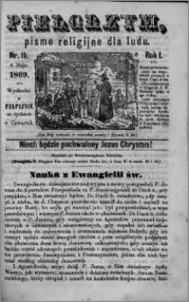 Pielgrzym, pismo religijne dla ludu 1869 rok I nr 19