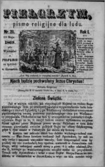 Pielgrzym, pismo religijne dla ludu 1869 rok I nr 20