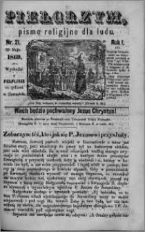 Pielgrzym, pismo religijne dla ludu 1869 rok I nr 21