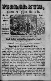 Pielgrzym, pismo religine dla ludu 1869 rok I nr 24