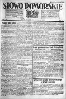 Słowo Pomorskie 1921.08.04 R.1 nr 175