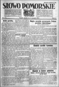 Słowo Pomorskie 1921.08.06 R.1 nr 177