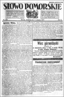 Słowo Pomorskie 1921.08.07 R.1 nr 178