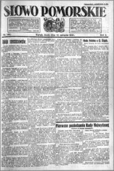 Słowo Pomorskie 1921.08.10 R.1 nr 180
