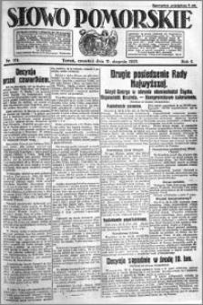 Słowo Pomorskie 1921.08.11 R.1 nr 181