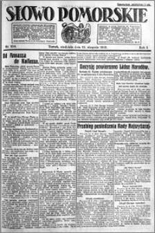 Słowo Pomorskie 1921.08.14 R.1 nr 184