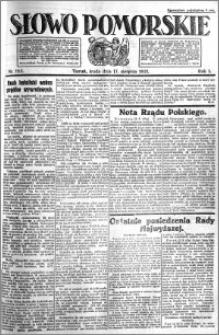 Słowo Pomorskie 1921.08.17 R.1 nr 185