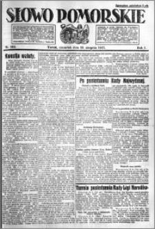 Słowo Pomorskie 1921.08.18 R.1 nr 186