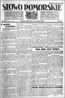 Słowo Pomorskie 1921.08.19 R.1 nr 187