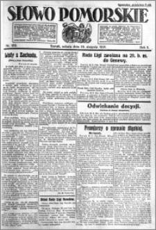 Słowo Pomorskie 1921.08.20 R.1 nr 188