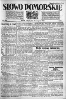 Słowo Pomorskie 1921.08.27 R.1 nr 194