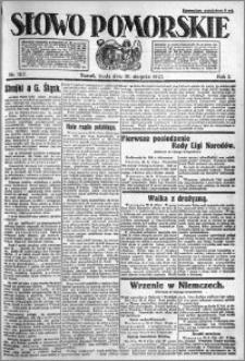 Słowo Pomorskie 1921.08.31 R.1 nr 197