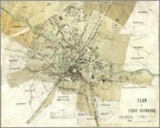 Plan der Stadt Bromberg