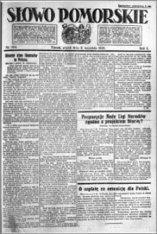 Słowo Pomorskie 1921.09.02 R.1 nr 199