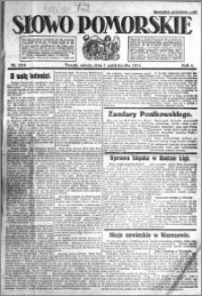 Słowo Pomorskie 1921.10.01 R.1 nr 224