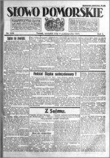 Słowo Pomorskie 1921.10.06 R.1 nr 228