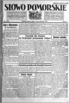 Słowo Pomorskie 1921.10.07 R.1 nr 229