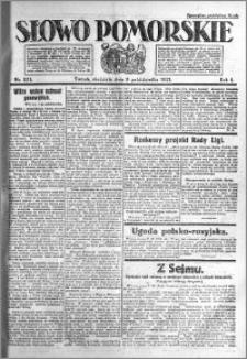 Słowo Pomorskie 1921.10.09 R.1 nr 231