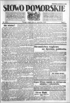 Słowo Pomorskie 1921.09.09 R.1 nr 205