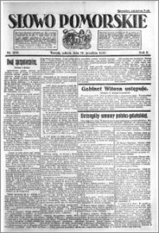 Słowo Pomorskie 1921.09.10 R.1 nr 206