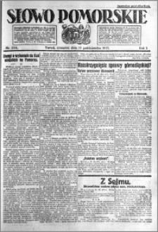 Słowo Pomorskie 1921.10.13 R.1 nr 234