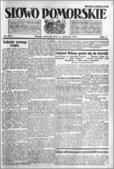 Słowo Pomorskie 1921.09.11 R.1 nr 207