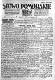 Słowo Pomorskie 1921.10.14 R.1 nr 235