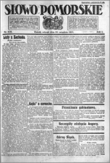 Słowo Pomorskie 1921.09.13 R.1 nr 208