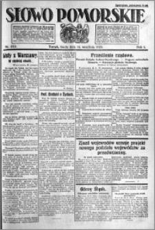 Słowo Pomorskie 1921.09.14 R.1 nr 209