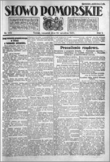 Słowo Pomorskie 1921.09.15 R.1 nr 210
