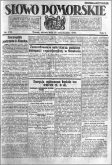 Słowo Pomorskie 1921.10.18 R.1 nr 238