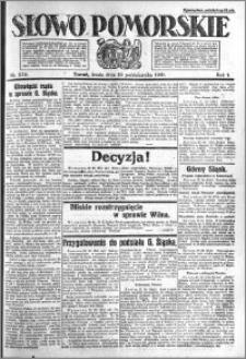 Słowo Pomorskie 1921.10.19 R.1 nr 239