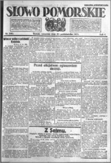 Słowo Pomorskie 1921.10.20 R.1 nr 240