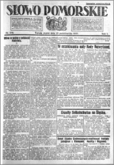 Słowo Pomorskie 1921.10.21 R.1 nr 241