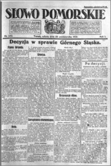 Słowo Pomorskie 1921.10.22 R.1 nr 242
