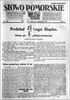 Słowo Pomorskie 1921.10.23 R.1 nr 243