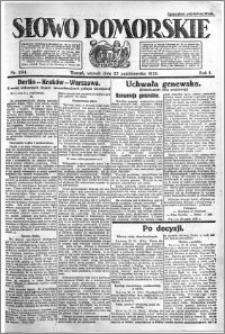 Słowo Pomorskie 1921.10.25 R.1 nr 244