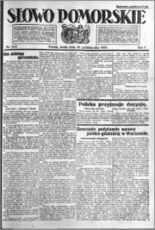 Słowo Pomorskie 1921.10.26 R.1 nr 245