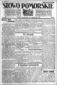 Słowo Pomorskie 1921.10.27 R.1 nr 246