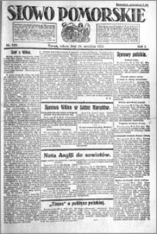 Słowo Pomorskie 1921.09.24 R.1 nr 218