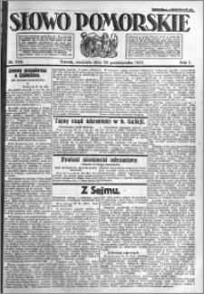 Słowo Pomorskie 1921.10.30 R.1 nr 249