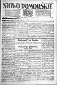 Słowo Pomorskie 1921.09.29 R.1 nr 222